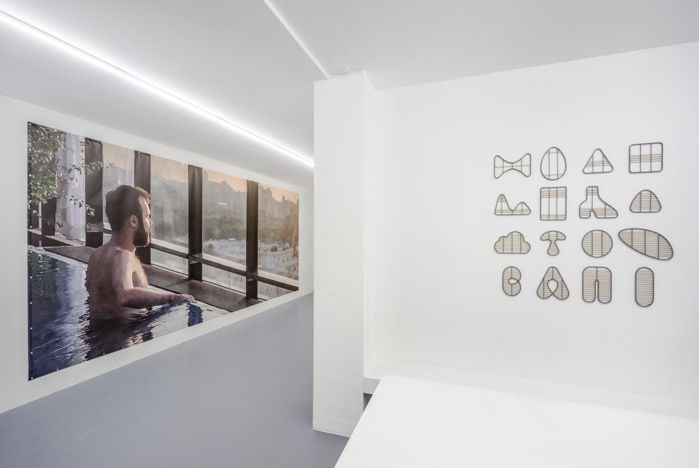 Exhibition view /Surender, Surender./at Balcony Gallery [1], 2020. Photo: João Neves.  [1] https://balcony.pt/surendersurender/