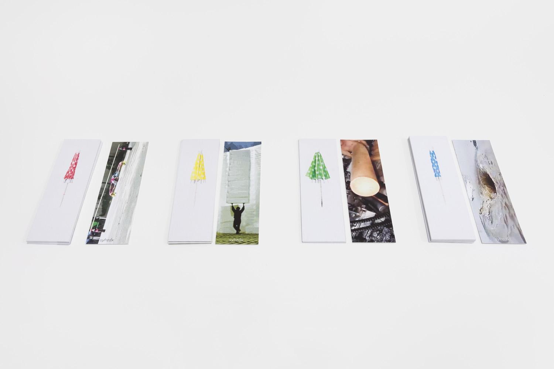 Book Marks (2016) 4 book marks, 5 x 17 cm. Photo: Bruno Lopes.